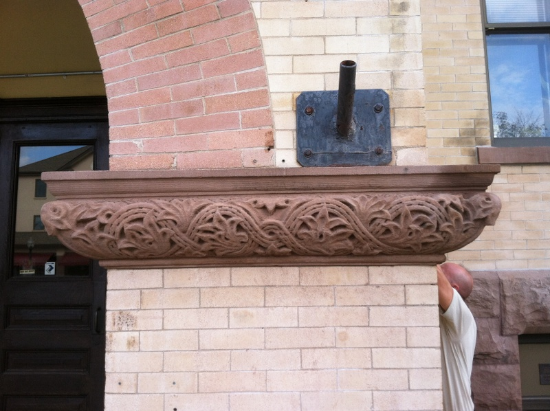 Terracotta repair/reproduction in process-Ridgewood Community School