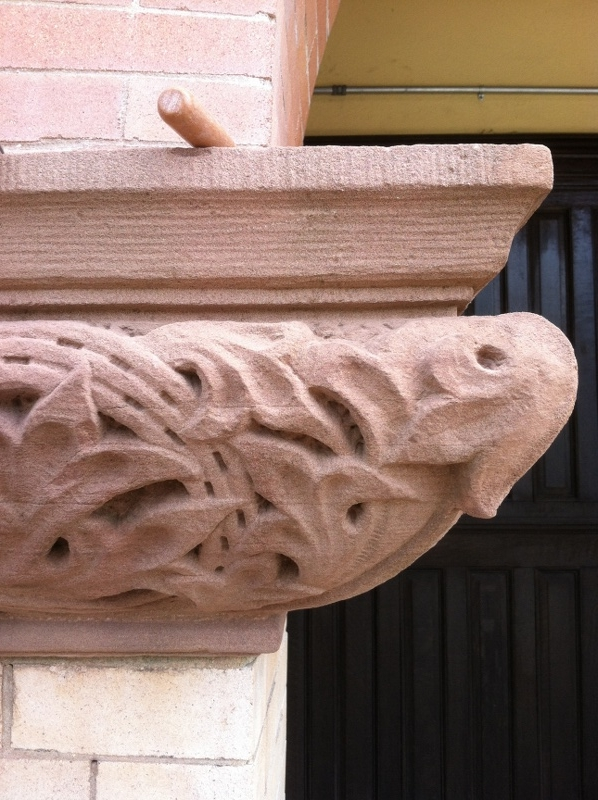 Finished terracotta repair/reproduction-Ridgewood Community School