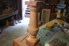 Wilton NH Public and Gregg Free Library original baluster removed to restore and use as the model_800x600