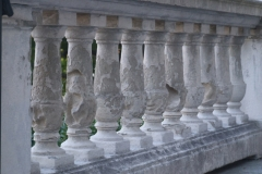 Wilton NH Public and Gregg Free Library original balustrade with the weathered old balusters_800x600